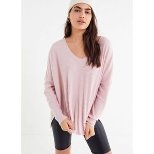 Out From Under (Urban Outfitters)••Pink V Neck Top